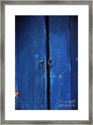 Seeing Blue In Mykonos Framed Print by John Rizzuto