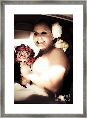 Sepia Tone Bride Framed Print by Jorgo Photography - Wall Art Gallery