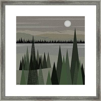 Shades Of Gray - Gray Landscape Framed Print by Val Arie