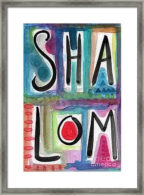 Shalom Framed Print by Linda Woods