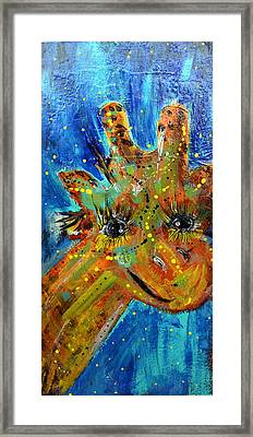 Shane The Giraffe Framed Print by Cindi Ashbeck