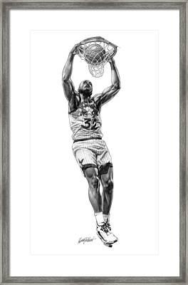 Shaq Slam Framed Print by Harry West