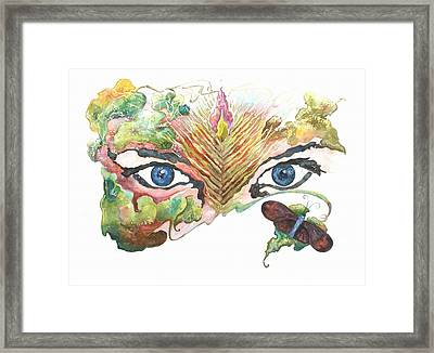 She Sees Red Framed Print by Donna Ellery