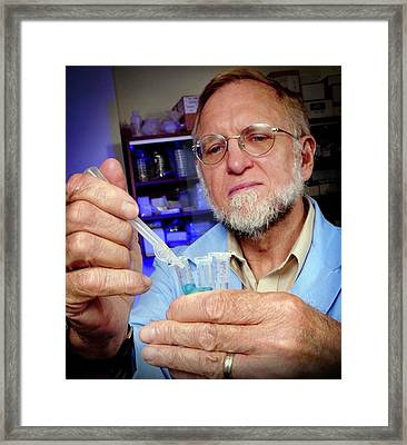 Shikimate Metabolite Test Framed Print by Rod Pentico/us Department Of Agriculture