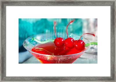 Shirley Temple Drink Framed Print by Iris Richardson