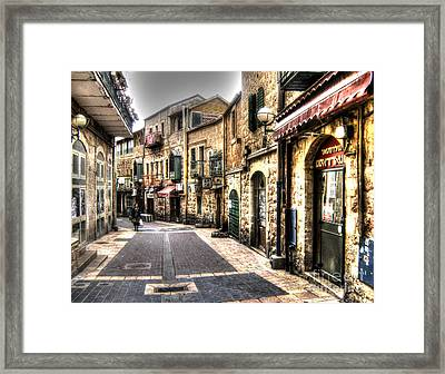 Shopping In Israel Framed Print by Doc Braham