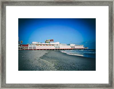 Shoreline Of Atlantic City Framed Print by Mountain Dreams