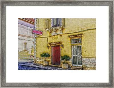 Sicilian Restaurant Framed Print by Mountain Dreams