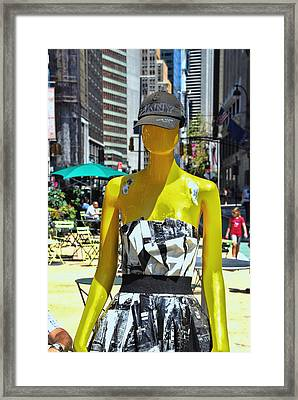 Sidewalk Catwalk 11 Framed Print by Allen Beatty
