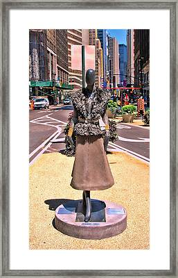 Sidewalk Catwalk 12 Framed Print by Allen Beatty