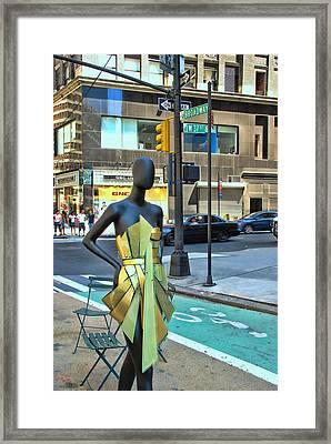 Sidewalk Catwalk 14 Framed Print by Allen Beatty