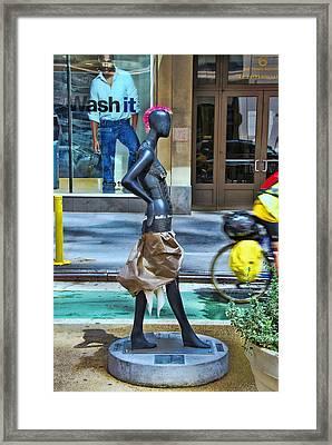 Sidewalk Catwalk 15 Framed Print by Allen Beatty