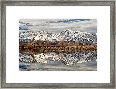 Sierra Reflections Framed Print by Cat Connor