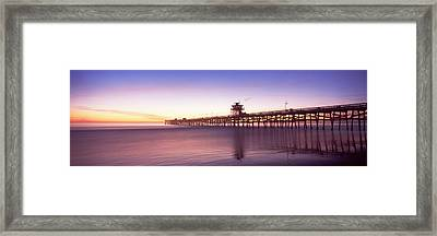 Silhouette Of A Pier, San Clemente Framed Print by Panoramic Images