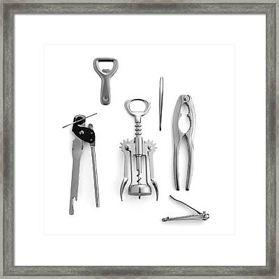 Simple Machines Framed Print by Science Photo Library