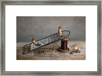 Simple Things - Sliding Down Framed Print by Nailia Schwarz