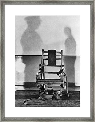 Sing Sing Electric Chair Framed Print by Underwood Archives