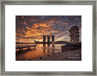 Singapore Skyline Framed Print by Colin and Linda McKie