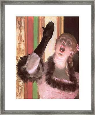 Singer With A Glove Framed Print by Edgar Degas