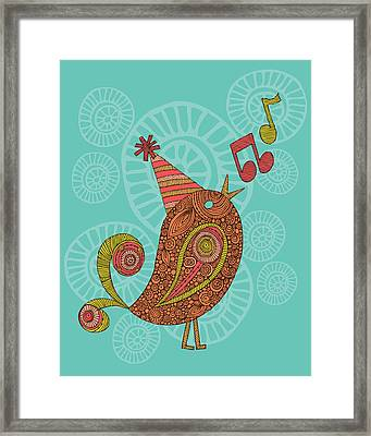 Singing Bird Framed Print by Valentina Ramos