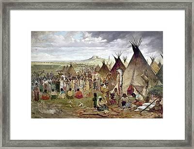 Sioux Encampment Framed Print by Granger