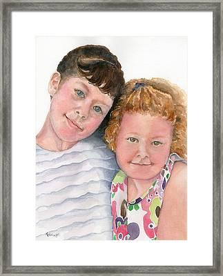 Sisters Framed Print by Marsha Elliott