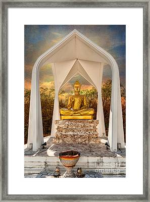 Sitting Buddha Framed Print by Adrian Evans