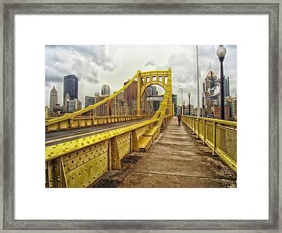 Sixth Street Bridge - Pittsburgh Framed Print by Mountain Dreams