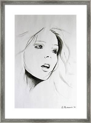 Sketch Of Beauty Framed Print by Anna Androsovski