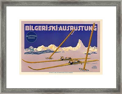 Ski Austria 1910 Framed Print by Mountain Dreams