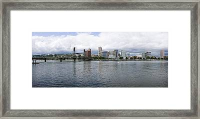 Skyline As Seen From The Vera Katz Framed Print by Panoramic Images
