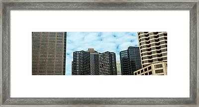 Skyscrapers In A City, Hyatt Regency Framed Print by Panoramic Images