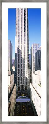 Skyscrapers In A City, Rockefeller Framed Print by Panoramic Images