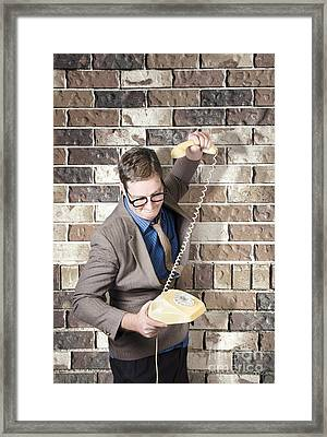 Slamming Down The Phone. Like A Boss Framed Print by Jorgo Photography - Wall Art Gallery
