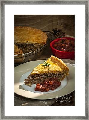 Slice Of Tourtiere Meat Pie  Framed Print by Elena Elisseeva