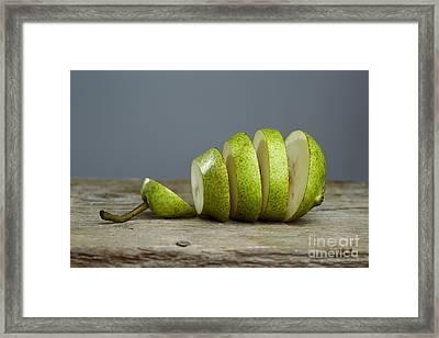 Sliced Framed Print by Nailia Schwarz