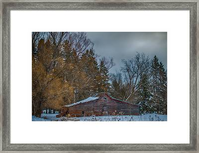 Small Barn Framed Print by Paul Freidlund