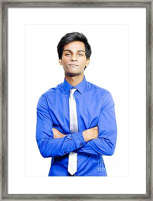 Smiling Young Asian Male Business Person Framed Print by Jorgo Photography - Wall Art Gallery