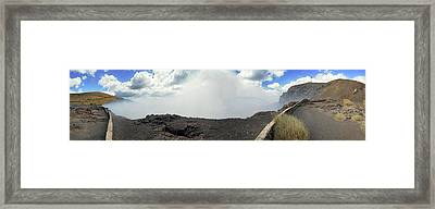Smoke Erupting Form The Masaya Volcano Framed Print by Panoramic Images