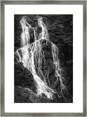 Smoky Waterfall Framed Print by Jon Glaser