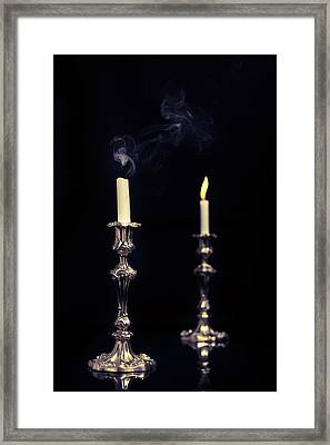Smoking Candle Framed Print by Amanda And Christopher Elwell