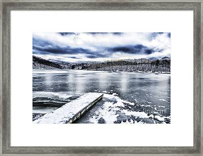 Snow Big Ditch Lake Framed Print by Thomas R Fletcher