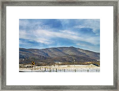 Snowy High Peak Mountain Framed Print by Betsy Knapp