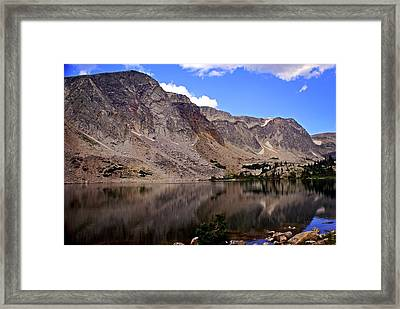 Snowy Mountain Loop 1 Framed Print by Marty Koch