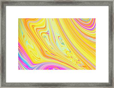 Soap Bubble Film Iridescence Framed Print by Kym Cox