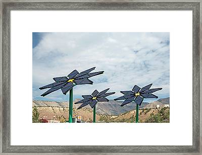 Solar Panel Flowers Framed Print by Jim West