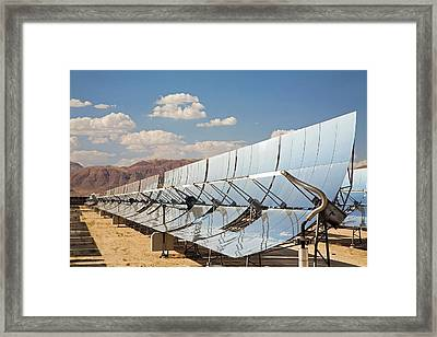 Solar Power Plant Framed Print by Jim West