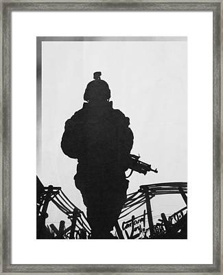 Soldier Framed Print by David Cohen