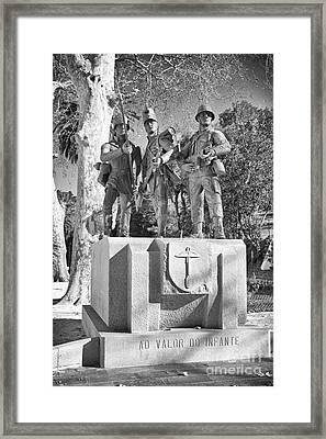 Soldiers Bronze Statue Framed Print by Jose Elias - Sofia Pereira