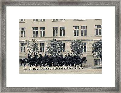 Soldiers Of The Presidential Regimental Framed Print by Panoramic Images